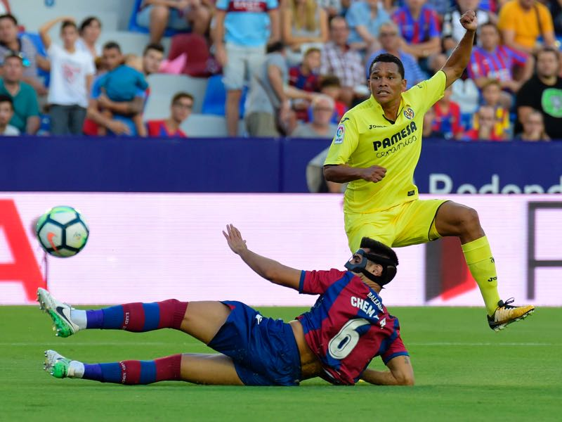 Carlos Bacca is back in Spain to resurrect his career. (JOSE JORDAN/AFP/Getty Images)