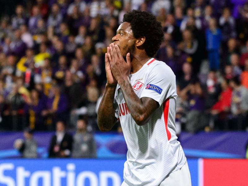 Luiz Adriano and Spartak Moscow were one of the few top sides to survive the fifth round of the Russian Cup. (JURE MAKOVEC/AFP/Getty Images)