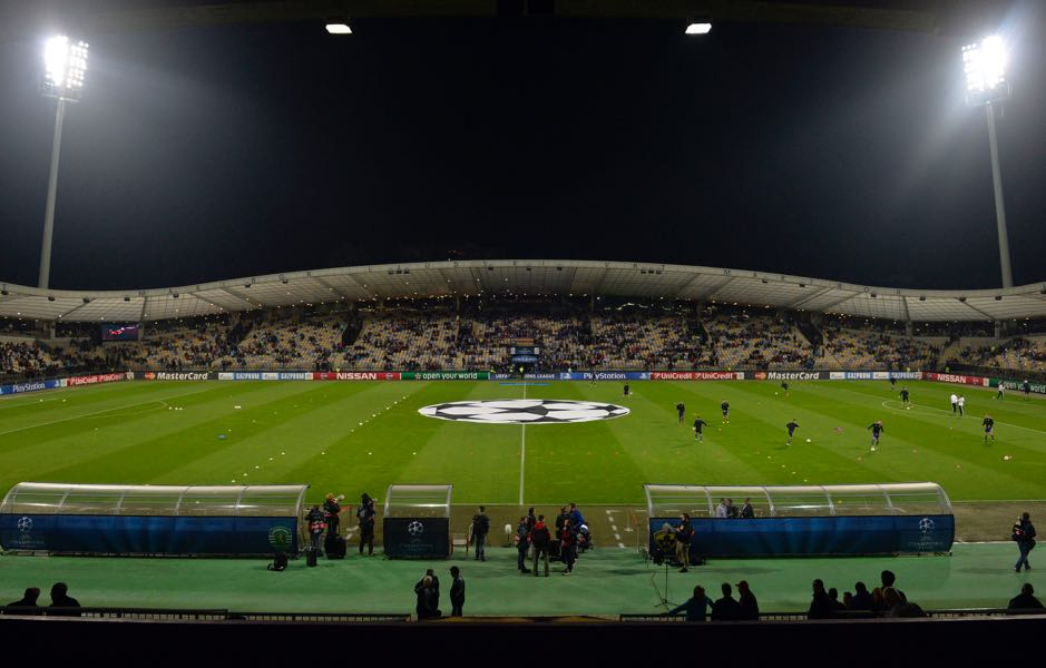 Maribor vs Spartak Moscow will take place at the Ljudski vrt (Photo by Samuel Kubani/EuroFootball/Getty Images)