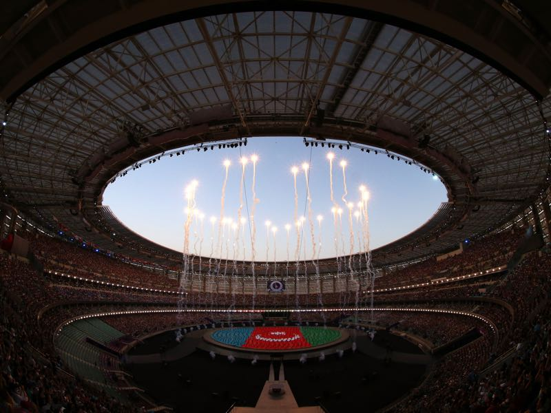 Qarabag vs Roma will take place at the Baku National Stadium. (Photo by David Ramos/Getty Images for BEGOC)