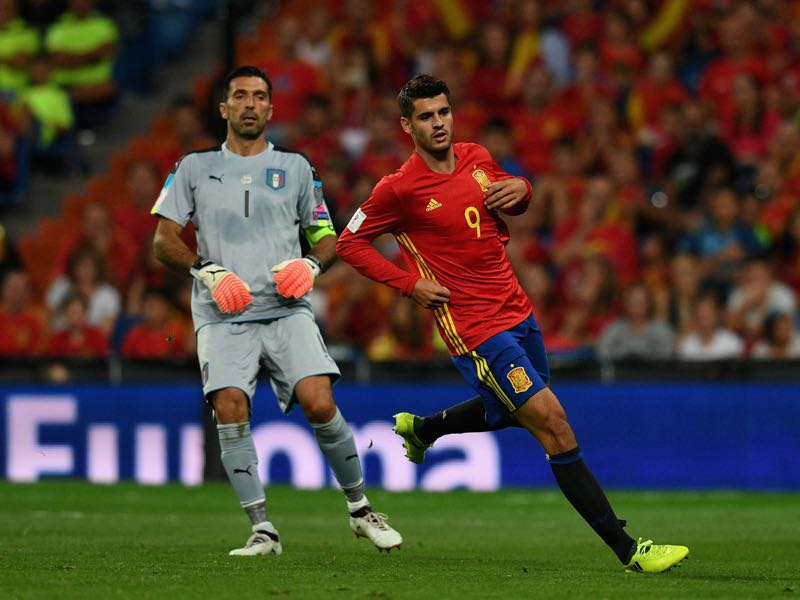 Álvaro Morata will be Spain's key player. (Photo by Claudio Villa/Getty Images)