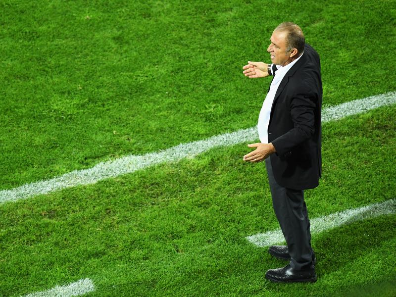 The Emperor Fatih Terim would be a big name replacement for Postecoglou. (Photo by Matthias Hangst/Getty Images)