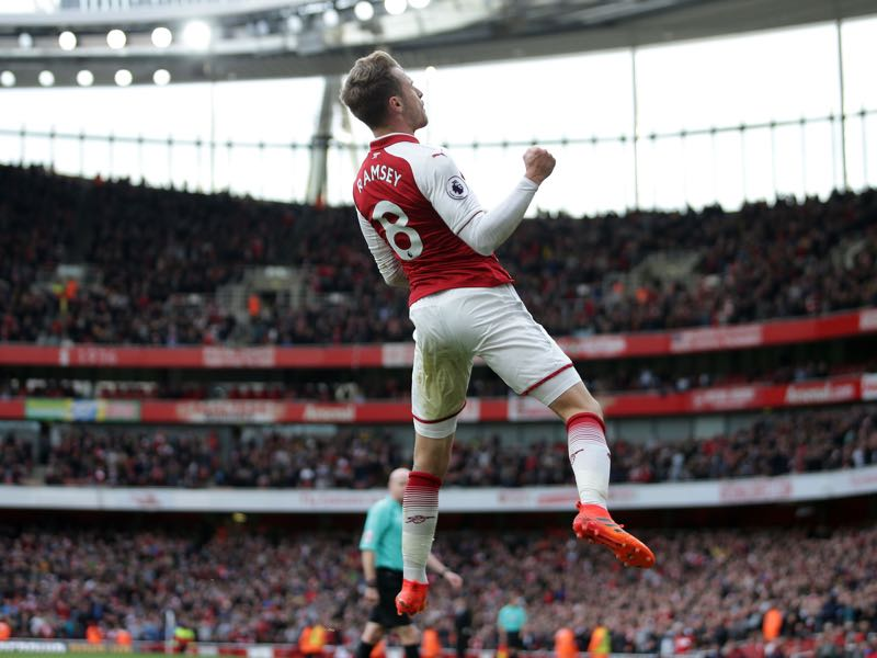 Aaron Ramsey has seen a resurgence in his career. (DANIEL LEAL-OLIVAS/AFP/Getty Images)