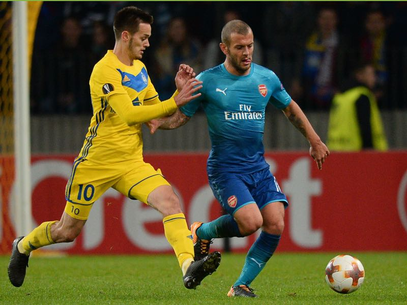 Jack Wilshere is the player to watch against BATE Borisov. (MAXIM MALINOVSKY/AFP/Getty Images)