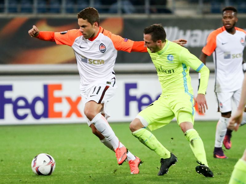 Brazilian born forward Marlos could make his first start for Ukraine. (KURT DESPLENTER/AFP/Getty Images)
