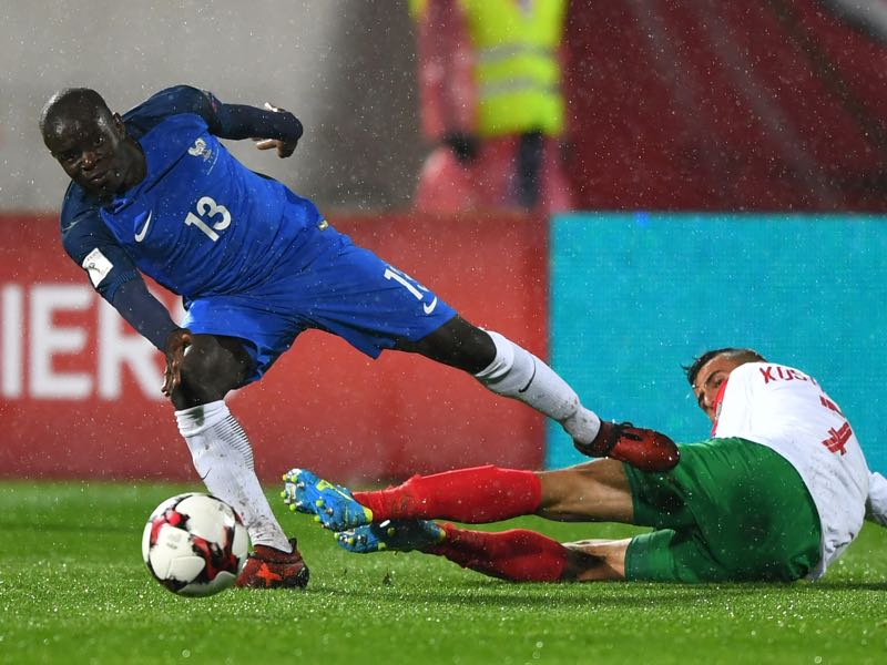 N'Golo Kante was listed as one of Constantin Dumitrascu clients. (DIMITAR DILKOFF/AFP/Getty Images)