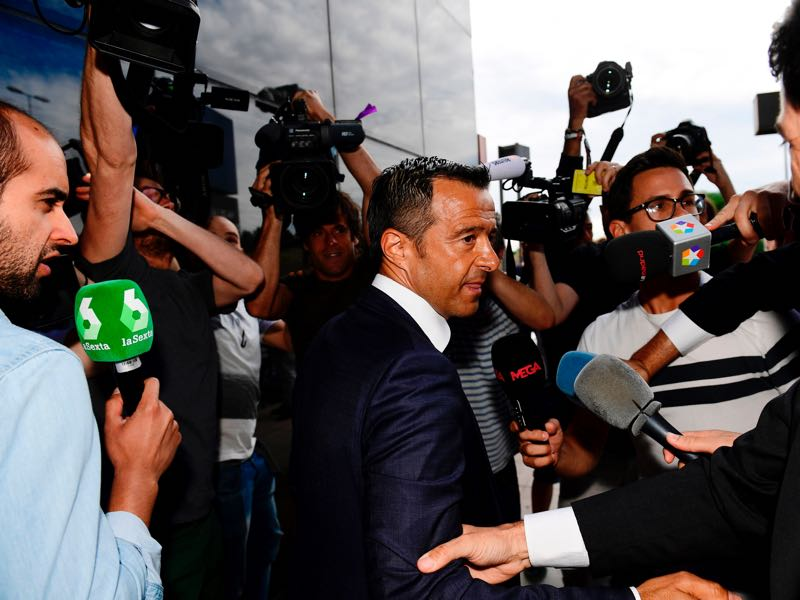 Constantin Dumitrascu in the same league as super agent Jorge Mendes? The evidence says no. (PIERRE-PHILIPPE MARCOU/AFP/Getty Images)