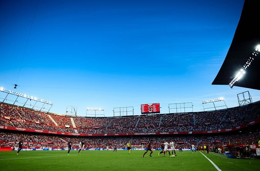 Sevilla vs Krasnodar will take place at the Ramón Sánchez Pizjuan. (Photo by Aitor Alcalde/Getty Images)