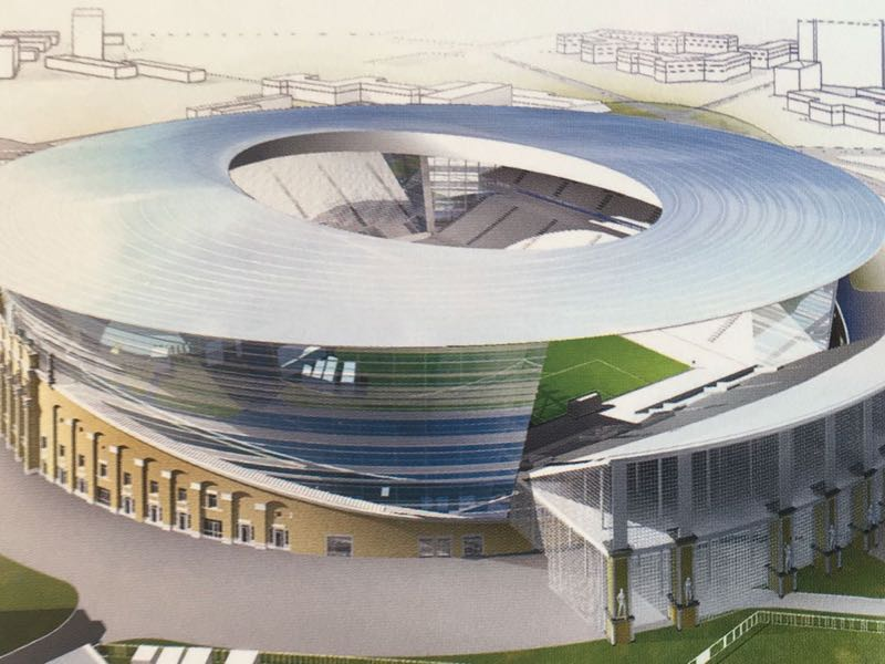 The temporary seats were already revealed during the original planning process of the 2018 FIFA World Cup in Russia. (2018 FIFA World Cup Russia Host City Ekaterinburg Booklet)