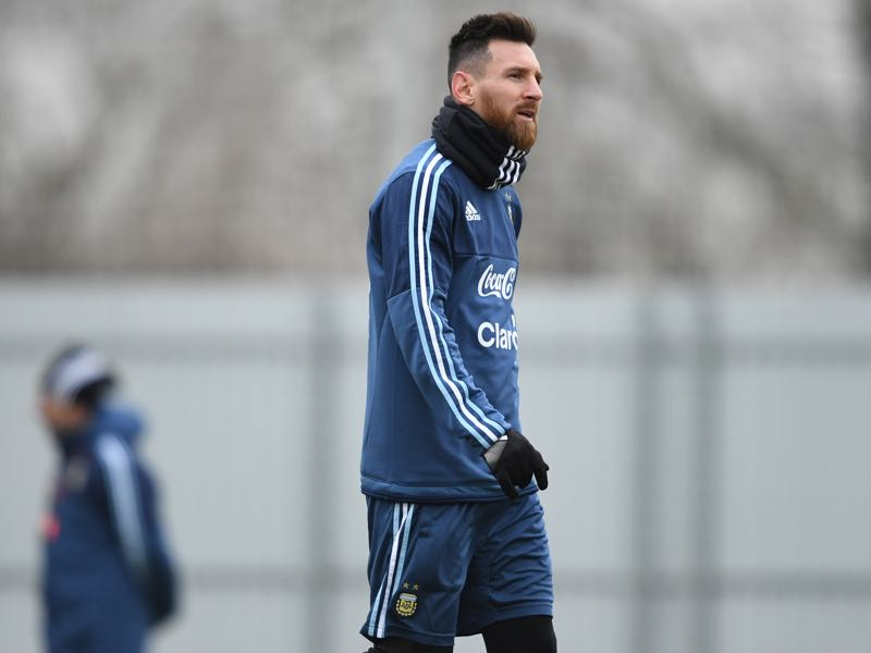 As always Lionel Messi will lead the line for Argentina. (KIRILL KUDRYAVTSEV/AFP/Getty Images)