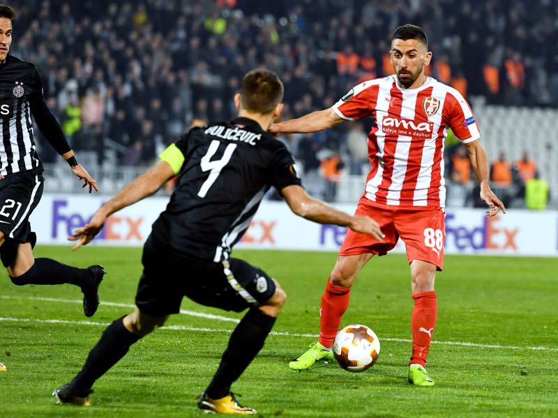Sabien Lilaj is Skenderbeu's key player. (ANDREJ ISAKOVIC/AFP/Getty Images)