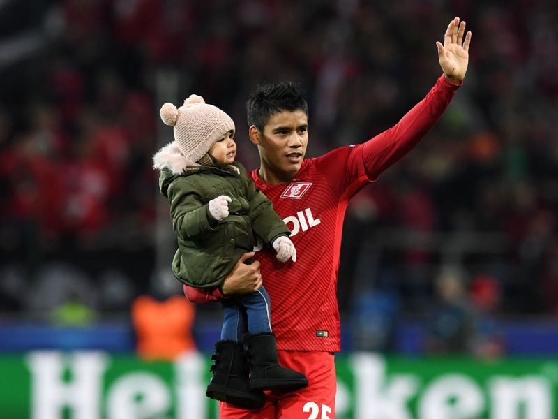 Lorenzo Melgarejo will be Spartak's key player against Zenit (KIRILL KUDRYAVTSEV/AFP/Getty Images)