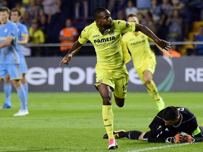 Cedric Bakambu will be Villarreal's key player. (JOSE JORDAN/AFP/Getty Images)
