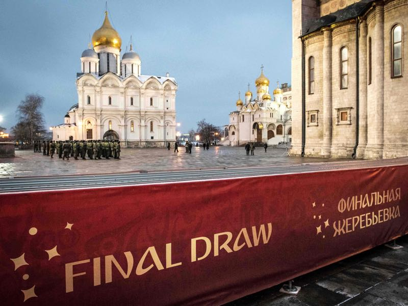 The World Cup draw will take place on Friday in Moscow. (MLADEN ANTONOV/AFP/Getty Images)