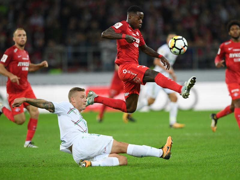 Quincy Promes was on fantastic form for Spartak Moscow in their Champions League victory over Sevilla. (Photo by Epsilon/Getty Images)