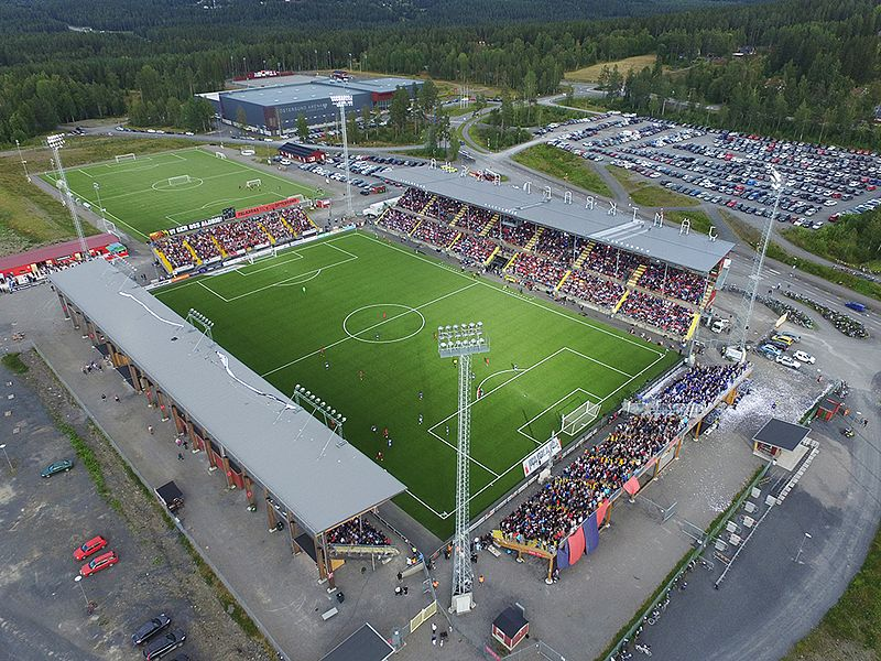 Östersund vs Zorya Luhansk will take place at the Jämtkraft Arena in Östersund. (Aronman CC-BY-SA-4.0)