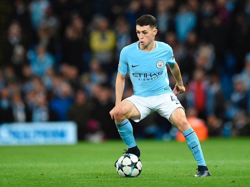 Phil Foden will likely receive some playing time in the match against Shakhtar Donetsk. (OLI SCARFF/AFP/Getty Images)