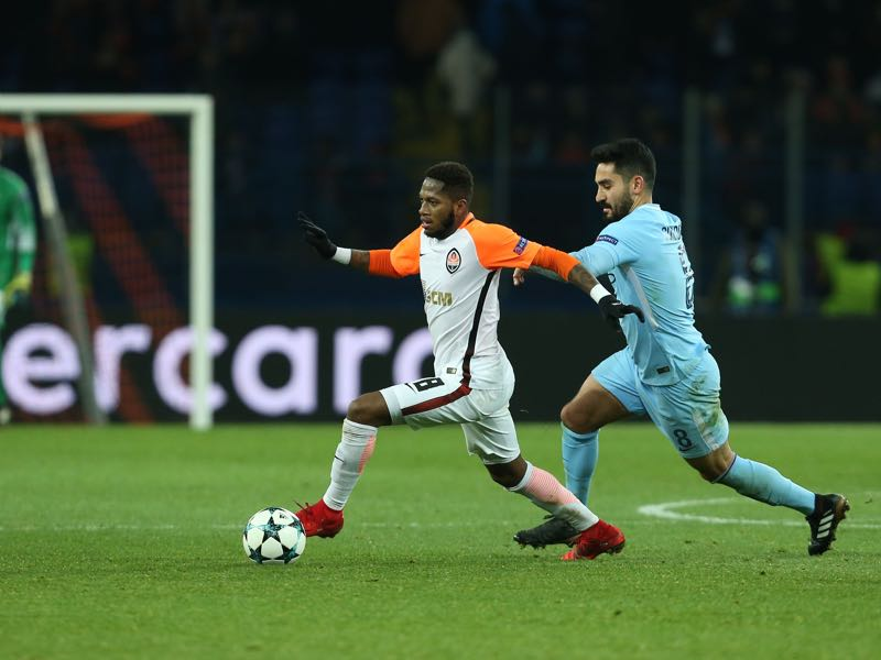 Shakhtar's Fred impressed in the Champions League this season. (STANISLAS VEDMID/AFP/Getty Images)