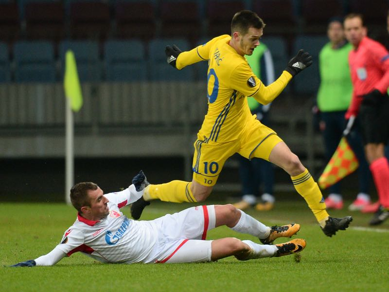 Mirko Ivanic will be BATE's key player in the match against Arsenal. (MAXIM MALINOVSKY/AFP/Getty Images)