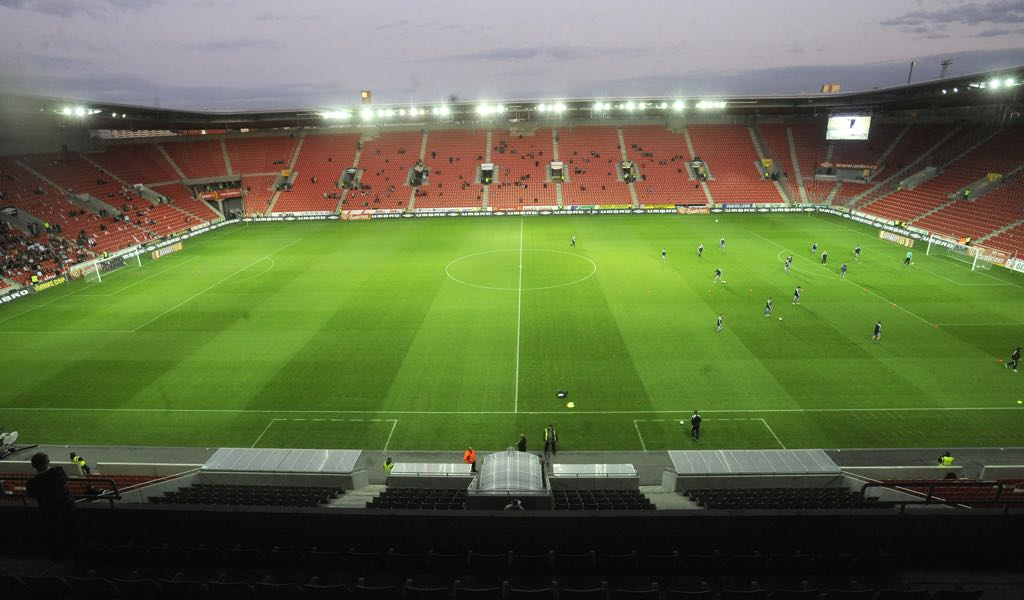 Slavia Praha vs Zenit will take place at the Eden Arena in Prague. (Photo by Michal Cizek/EuroFootball/Getty Images)