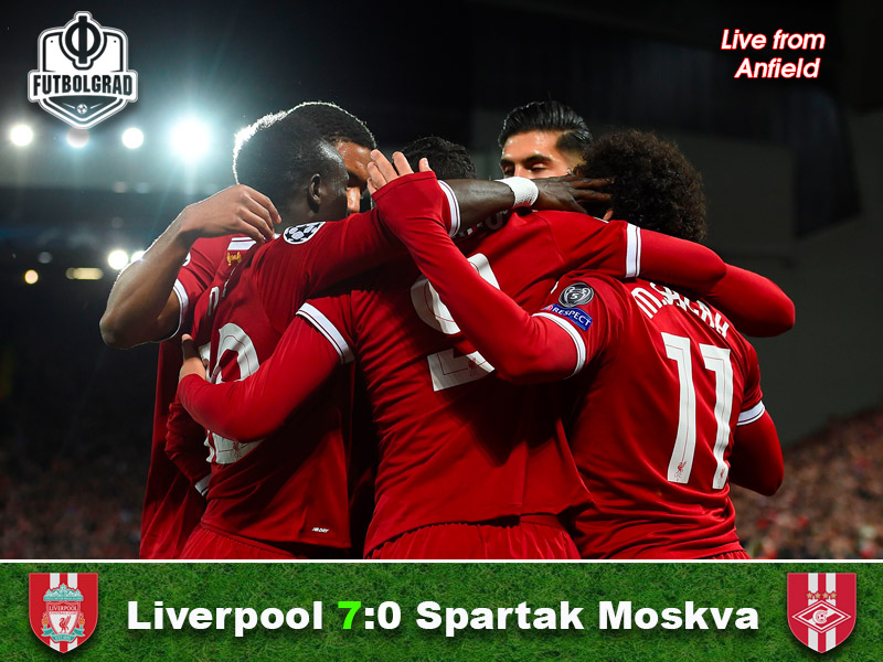 Liverpool v Spartak Moscow – Champions League Match Report