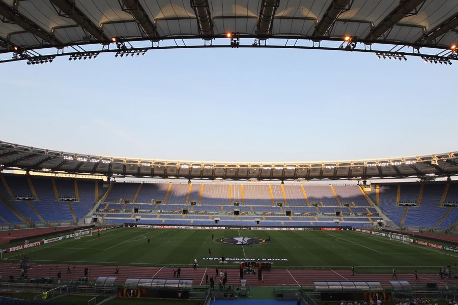 Lazio vs Dynamo Kyiv will take place at the Estadio Olimpico in Rome. (Photo by Paolo Bruno/Getty Images)