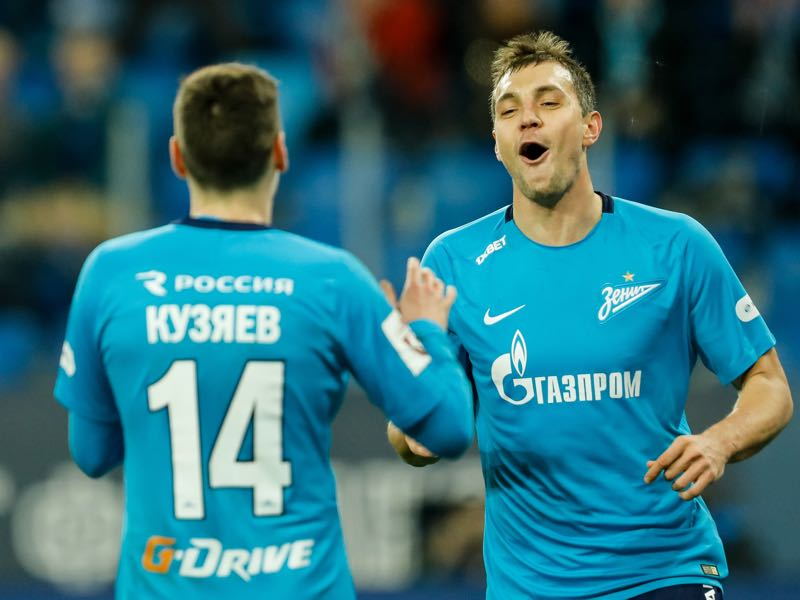There have not been many occasion for Artem Dzyuba (r.) to celebrate this season. (Photo by Epsilon/Getty Images)