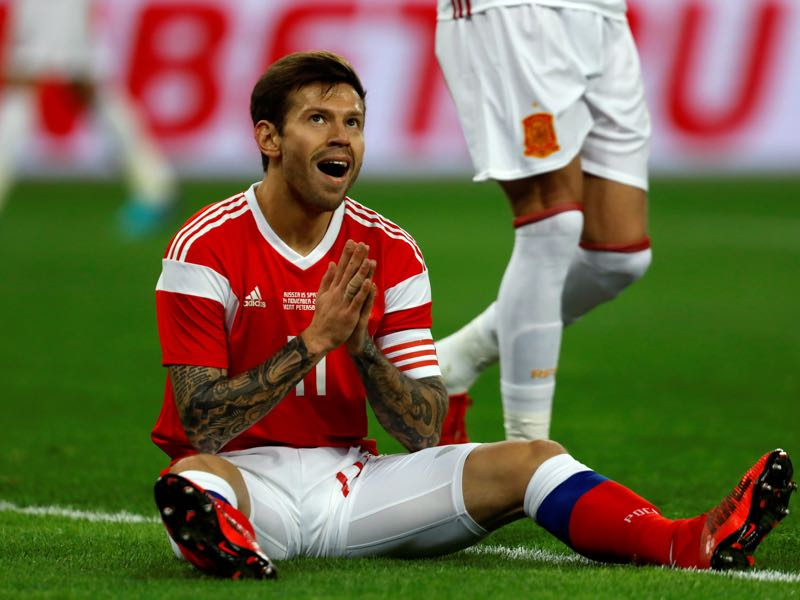 Fedor Smolov is Russia's number one striker. (Photo by Epsilon/Getty Images)