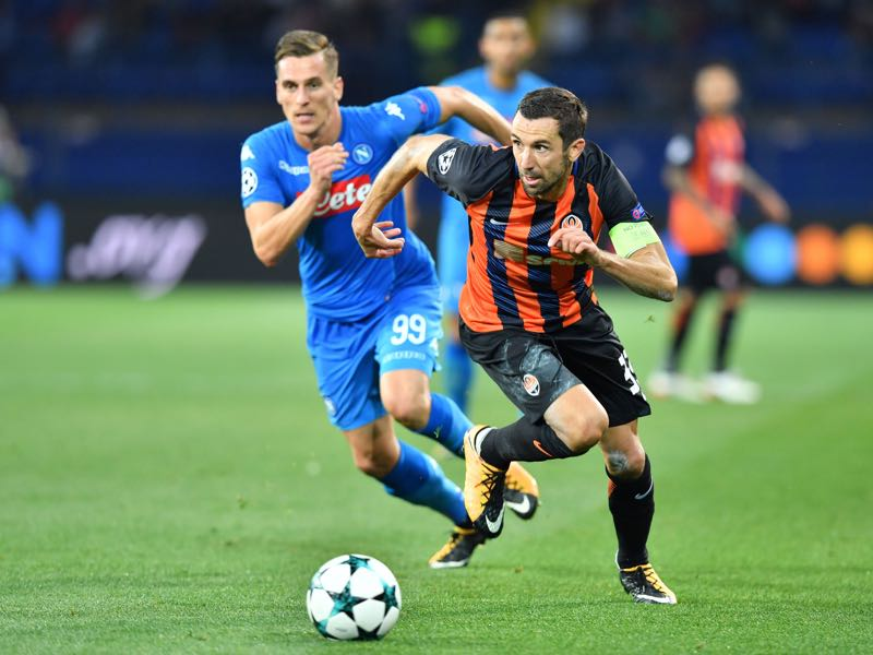 Darijo Srna last played for Shakhtar in the Champions League against Napoli. (SERGEI SUPINSKY/AFP/Getty Images)