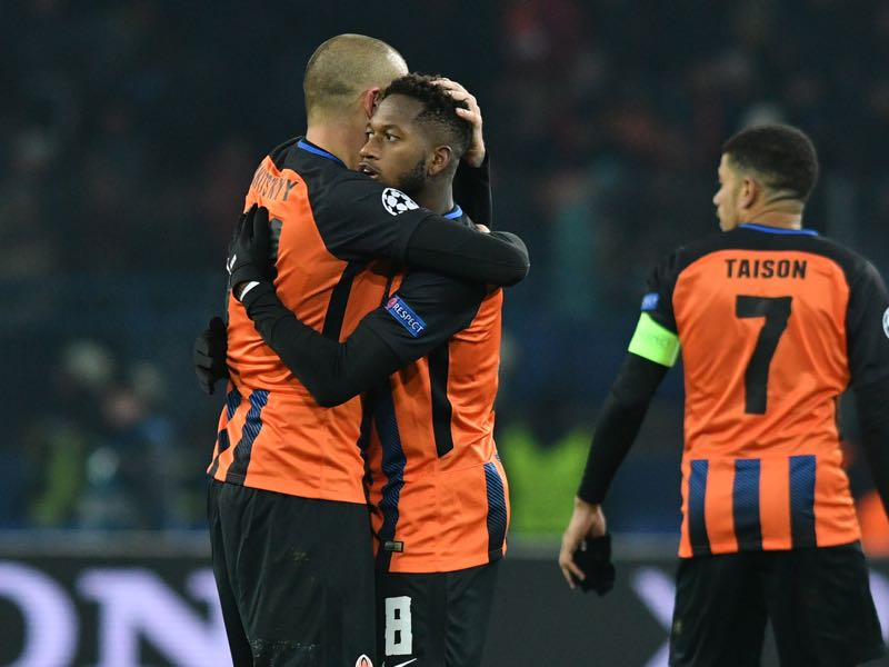 Shakhtar Donetsk vs Roma - Fred was the Futbolgrad Network player of the match. (GENYA SAVILOV/AFP/Getty Images)