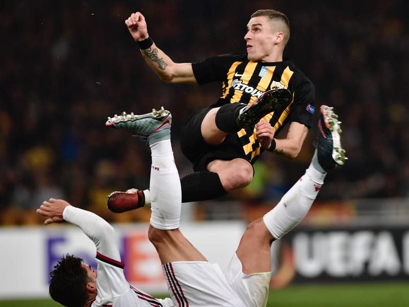 Ognen Vranješ will be AEK's key player. (LOUISA GOULIAMAKI/AFP/Getty Images)