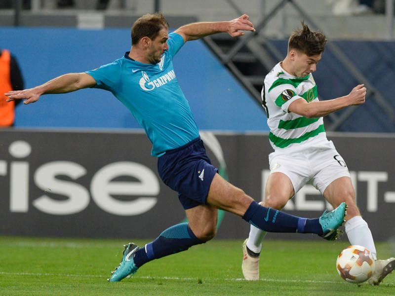 Zenit vs Celtic - Branislav Ivanovic was the player of the match. (YURI KADOBNOV/AFP/Getty Images)