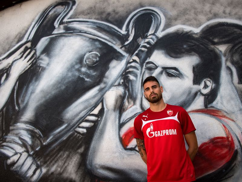 Damien Le Tallec is Crvena Zvezda's player to watch. (ANDREJ ISAKOVIC/AFP/Getty Images)