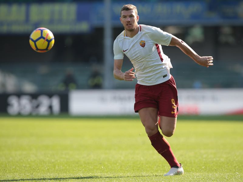 Edin Dzeko has been a goal machine for Roma. (Photo by Emilio Andreoli/Getty Images)