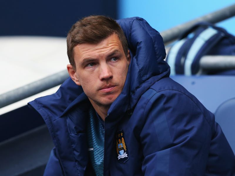 Edin Dzeko often only played second fiddle while at Manchester City (Photo by Alex Livesey/Getty Images)
