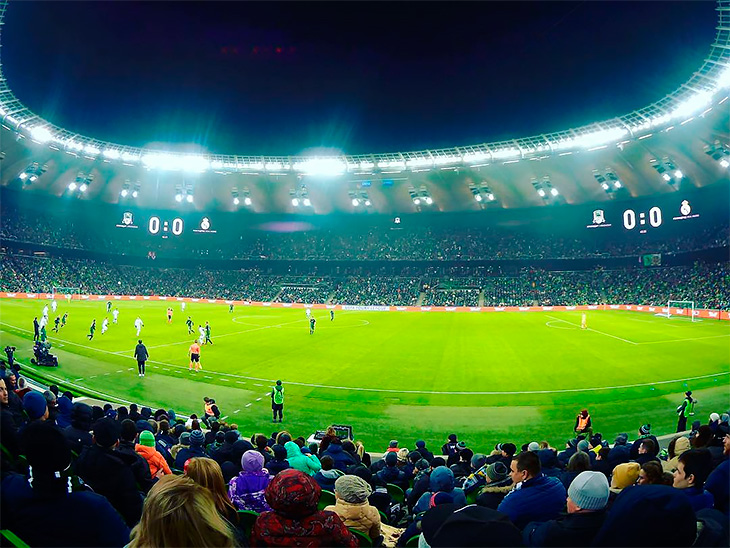 The Krasnodar Arena was packed for the UEFA Youth League match between Krasnodar and Real Madrid (Image via Sports.ru)