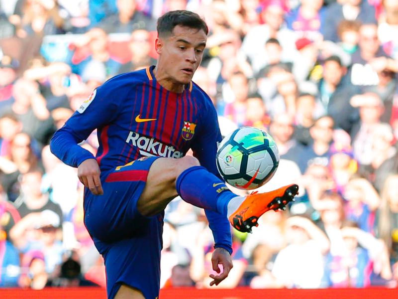 Philippe Coutinho has been excellent for his club Barcelona lately. (PAU BARRENA/AFP/Getty Images)