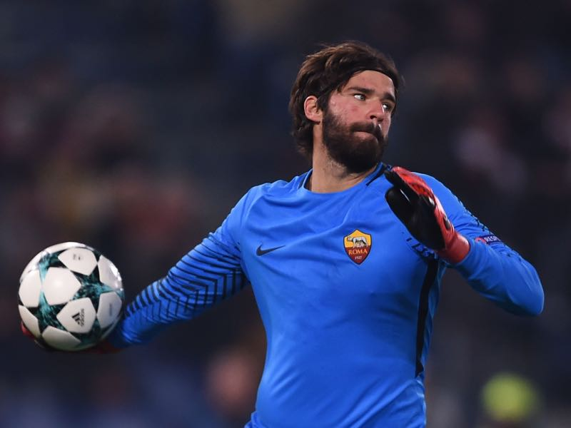 Alisson was fantastic in the first leg. (FILIPPO MONTEFORTE/AFP/Getty Images)