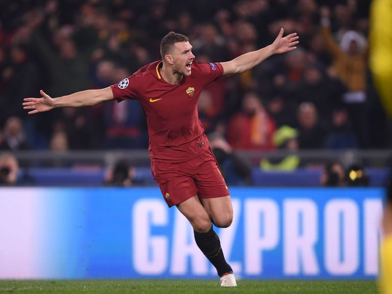 Roma vs Shakhtar Donetsk - Edin Dzeko was the player of the game. (FILIPPO MONTEFORTE/AFP/Getty Images)