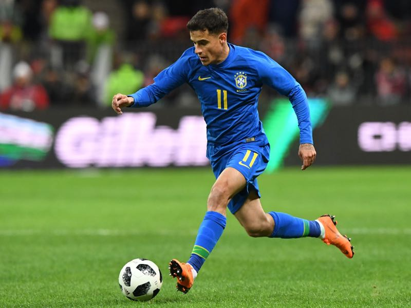 Brazil, and Coutinho in particular, were simply to much to handle for Russia's midfield. (KIRILL KUDRYAVTSEV/AFP/Getty Images)