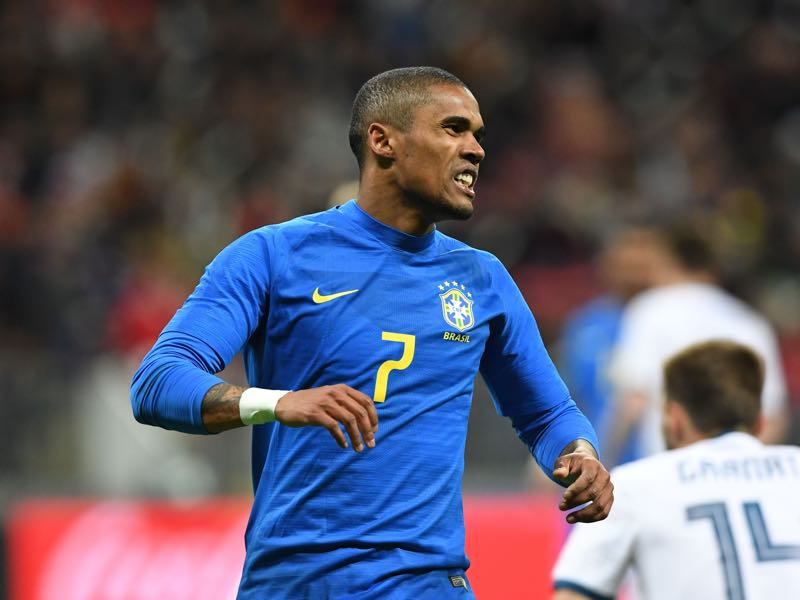 Russia v Brazil - Douglas Costa was the man of the match (KIRILL KUDRYAVTSEV/AFP/Getty Images).