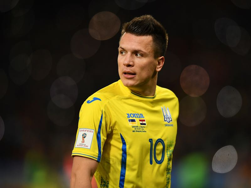 Yevhen Konoplyanka will be Ukraine's key player. (Photo by Dan Mullan/Getty Images)
