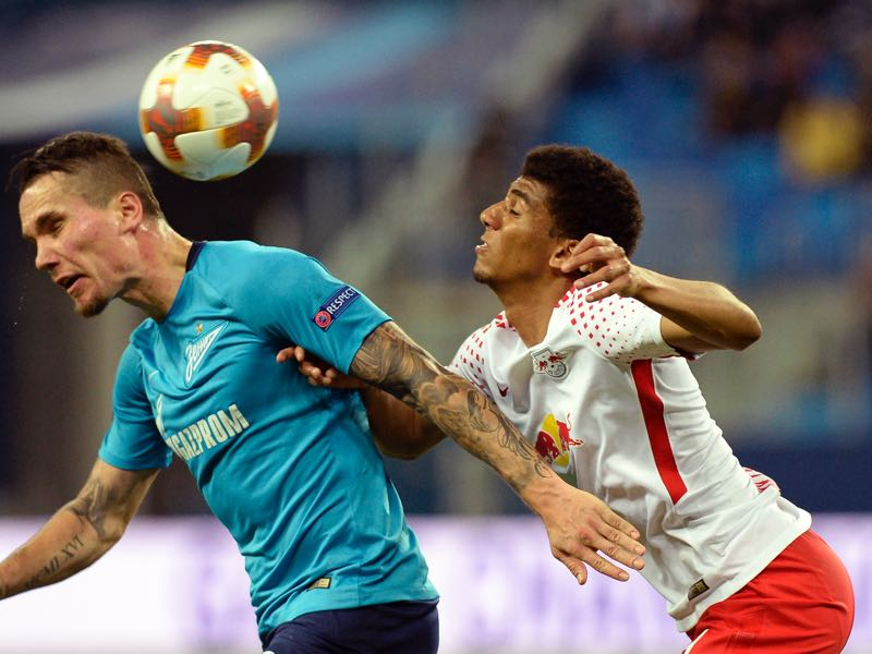 Zenit vs Leipzig - Bernardo (r.) was the man of the match. (OLGA MALTSEVA/AFP/Getty Images)