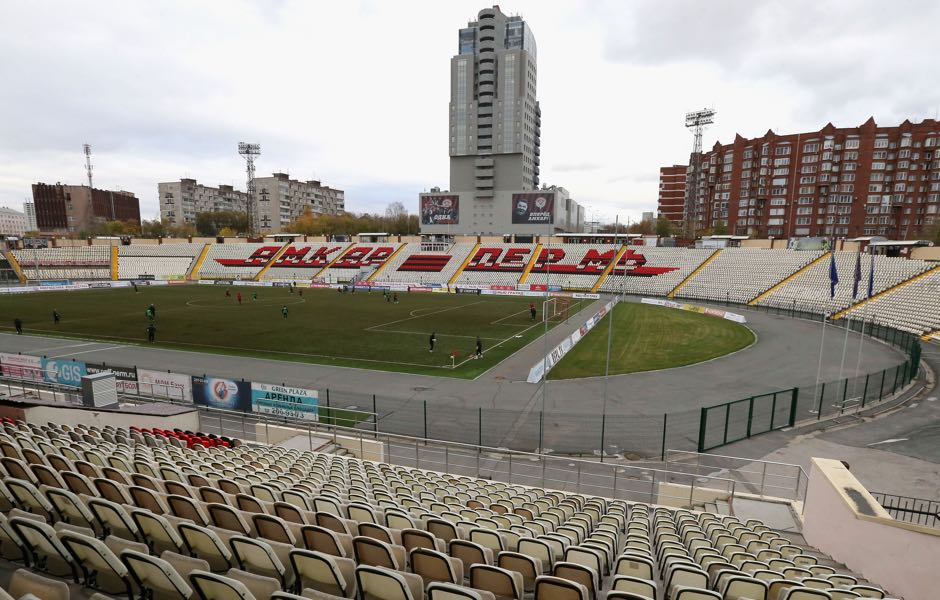 The Russian Football Premier League did not allow Amkar Perm to play their home game at the Zvezda Stadium. (Photo by Getty Images/Getty Images)