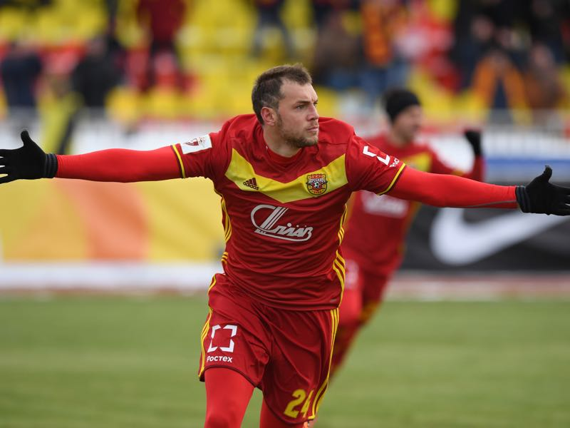 Artem Dzyuba has been on fire and could catapult Arsenal Tula to Europe. (Photo by Epsilon/Getty Images)