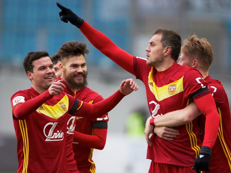 Artem Dzyuba celebrates. (Photo by Epsilon/Getty Images)