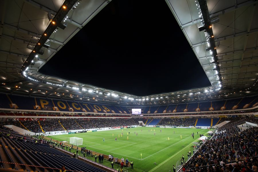 The Rostov Arena was opened with reduced capacity against SKA Khabarovsk. (VITALY TIMKIV/AFP/Getty Images)