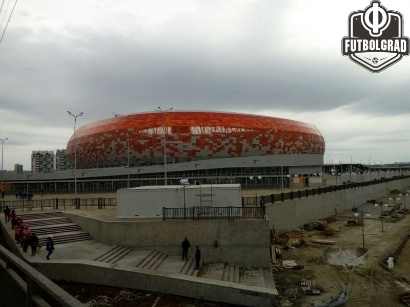 The Mordovia Arena in Saransk is almost ready for this summer's tournament (Andrew Flint / Futbolgrad Network)