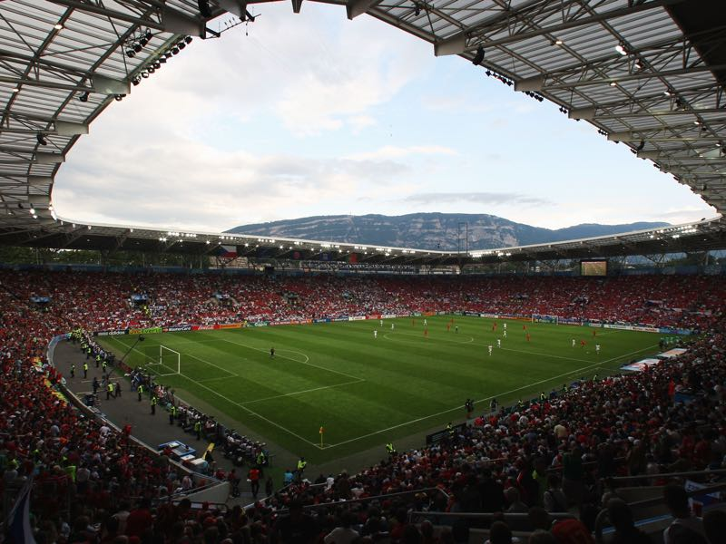 Morocco vs Ukraine will take place at the Stade de Geneve in Geneva Switzerland (Photo by Phil Cole/Getty Images)