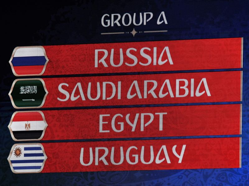 Russia as the host was seeded into Group A (KIRILL KUDRYAVTSEV/AFP/Getty Images)